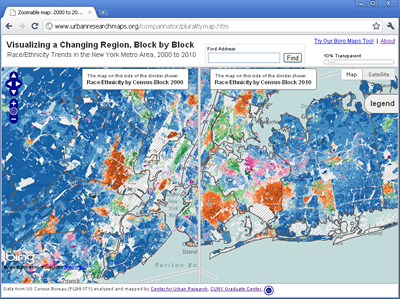 Maps Nyc 2000 To 2010 Demographic Change